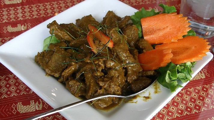 Beef curry at Jitlada